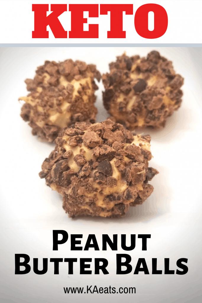 Keto Peanut Butter Balls / Keto / Keto Fat Bombs #keto #ketofatbombs #ketodesserts #desserts #peanutbutter #peanutbutterballs #peanutbutterdessert #KAeats