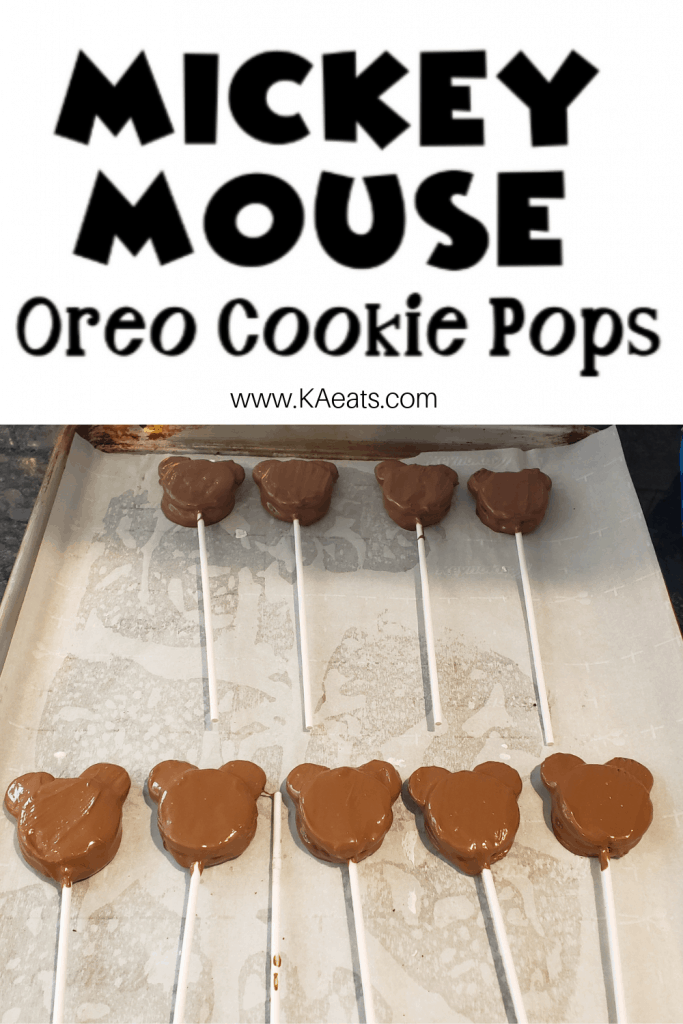 Mickey Mouse Oreo Cookie Pops - KA eats