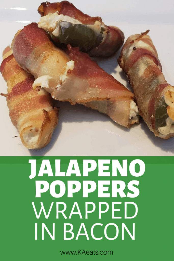 Jalapeno poppers wrapped in bacon appetizer