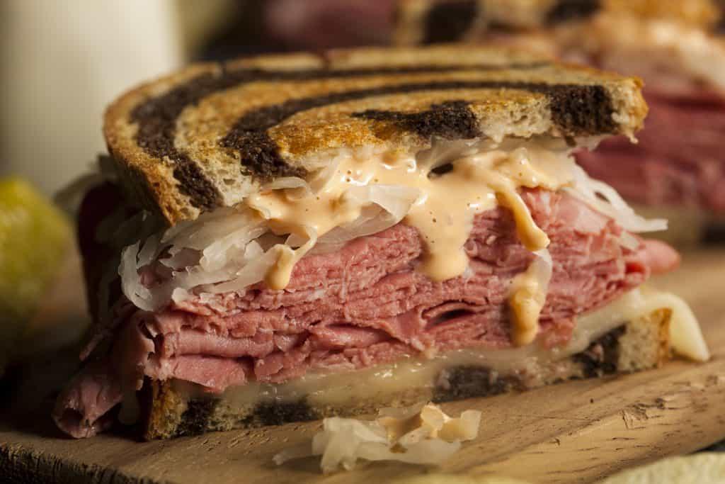Homemade Gourmet Reuben Sandwich