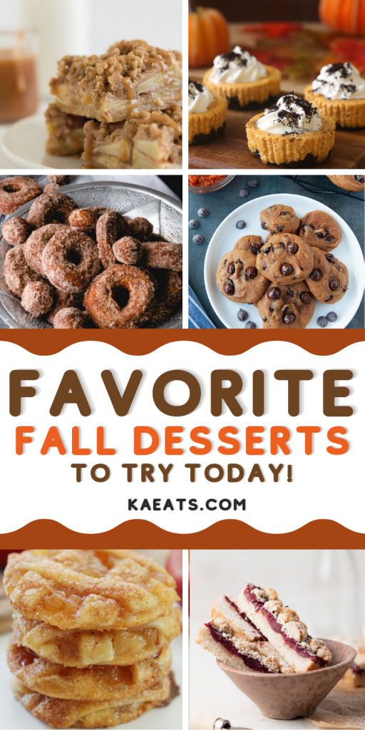FAVORITE FALL DESSERTS TO TRY TODAY