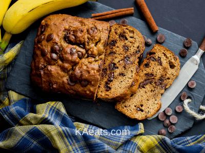 CHOCOLATE CHIP BANANA BREAD Fall Dessert