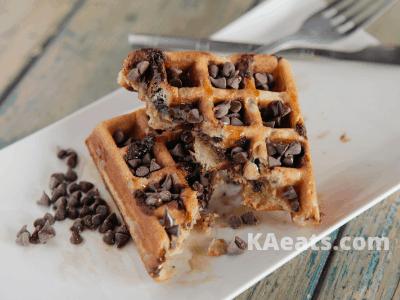 PUMPKIN CHOCOLATE CHIP WAFFLES Fall Dessert